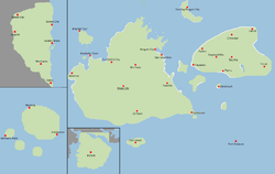 Location of Shops Island