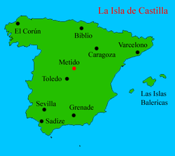 Location of Castilla