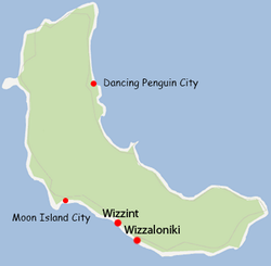 Location of Moon Island