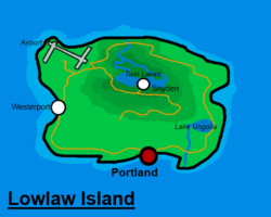Location of Lowlaw Island