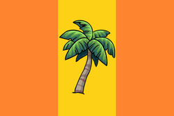 The most recent version of Tropicalis' flag, which is still used to this day and adopted shortly after the renaming of the country.