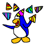 The partying penguin