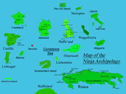 Location of Ninja Archipelago