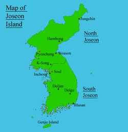 Location of South Joseon