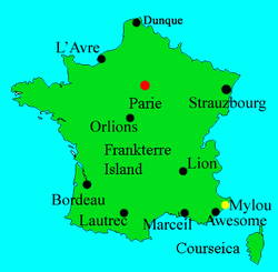 Location of Frankterre