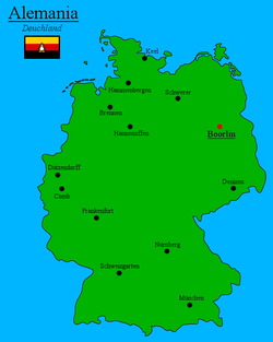 Location of Alemania