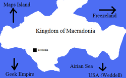 Location of Kingdom of Macradonia